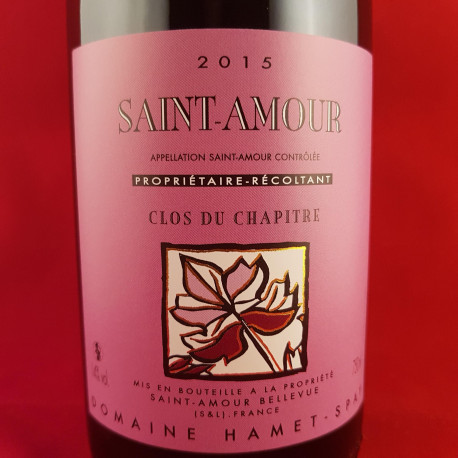 """Domaine Hamet-Spay - Saint-Amour """"Clos du Chapitre"""" 2015"""