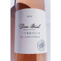 l'étreinte  rosé  de Dom Brial - 2018