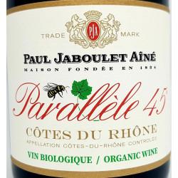 """Jaboulet """"Parallèle 45"""" côte du rhone rouge bio"""