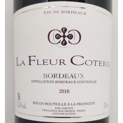 La Fleur Coterie Bordeaux rouge